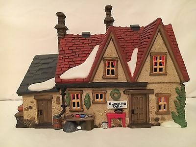 Dept 56 Dickens Village Butter Tub Farmhouse