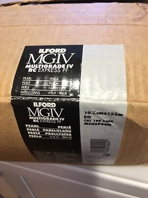 "1 BOX OF Ilford Multigrade IV Express RC Paper 4"" x 498Ft 10.2CM X 152M PEARL"