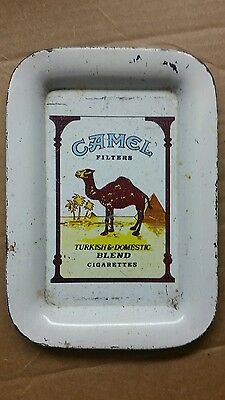 VINTAGE Camel Filters Turkish & Domestic Blend Cigarettes TIN TIP SERVING TRAY