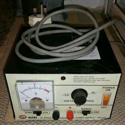 Altai 0-24 Volt DC 5 Amp Bench Power Supply PP-245