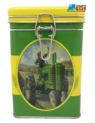 John Deere Square Tin Cookie Jar - Oval Picture