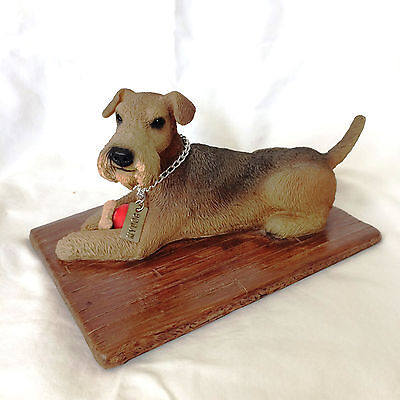 My Dog Airedale Terrier Resin Statue FREE SHIPPING