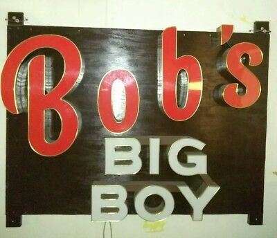 Custom made vintage bobs big boy light box sign