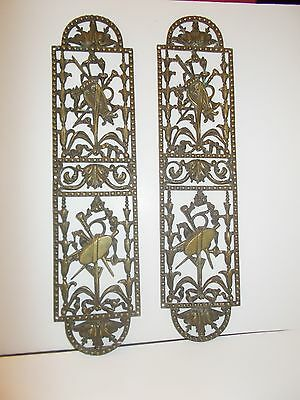 Finger Plates Brass Fret Work  X 2 See Pictures
