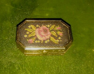 Estate Find  Vintage Pill Box  Solid Perfume Compact -by Avon