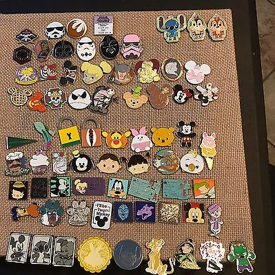 DISNEY TRADING PINS LOT OF 75 - 100% TRADABLE - No-Duplicates Fast FREE shipping