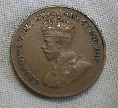 Antique Canada 1¢ Coin 1923 Penny  - Scarce Date