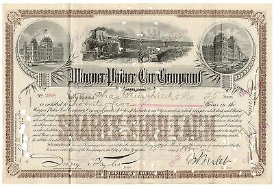 1896 Wagner Palace Car Co Stock Certificate Signed W. S. Webb [2219.0192]