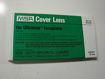 MSA Cover Lens for Ultravue Faceplate 456975 pack of 25 Covers