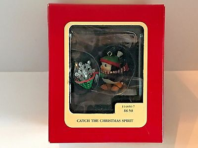 1990 Carlton Heirloom Ornament - CATCH THE CHRISTMAS SPIRIT - Free Shipping