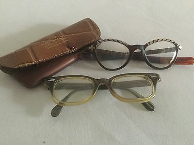 Vintage Cat eye Glasses 1950-1960's Plastic and Metal frames
