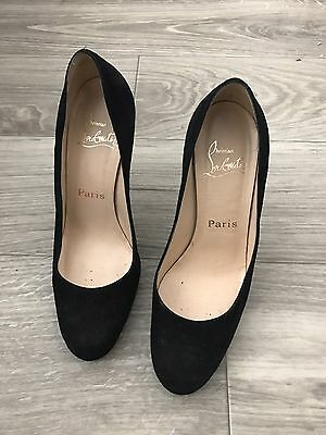 detailed look 9196a 85758 CHRISTIAN LOUBOUTIN BLACK Suede New Simple 120 36 6