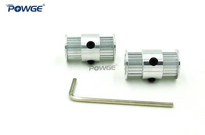 Dual 20 Teeth 2GT/GT2 Timing Pulley Bore 5/6.35/8mm Double side Gear Ultimaker 2