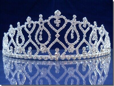 SparklyCrystal Bridal Rhinestone Crystal Wedding Prom Princess Tiara Crown 42207
