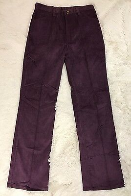 Vintage 70 Wrangler Purple Corduroy High Waist Pants Size 14 Dead Stock