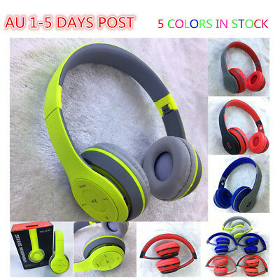 Kids Bluetooth Matte Touch Bass Stereo Wireless Headphone Headset with Mic FM