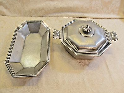 International Silver Co Silver Plated 2 Pc Set Bowl Lid and Serving Dish B#9