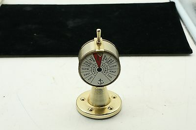 Bright BrassMADE IN FRANCE Engine Order Telegraph, Thermometer Nautical  Boating