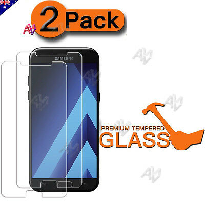 2X Aussie Tempered Glass Film Screen Protector For Samsung A5 2017