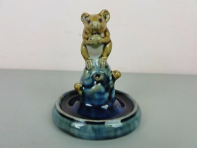 Doulton Lambeth George Tinworth or Harry Simeon Mouse Ring Holder Stand Royal