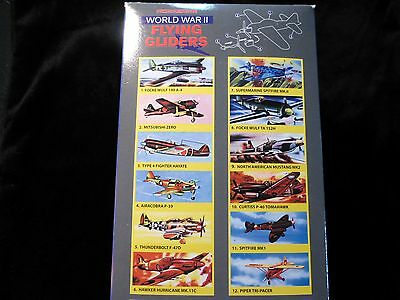 Old School Power Propeller Plane WW2 Flying Gliders Range - 12 Different Designs