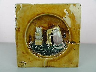 Doulton Lambeth George Tinworth Photography Mouse Tile Figurine Royal Prototype