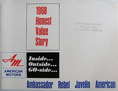 1968 American Motors Special Full Line Catalog  FOR SALESMEN