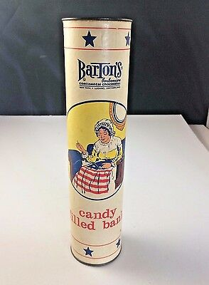 """Vtg Barton's Chocolate Candy Filled Betsy Ross Advertising Piggy Bank 10 """" Tall"""