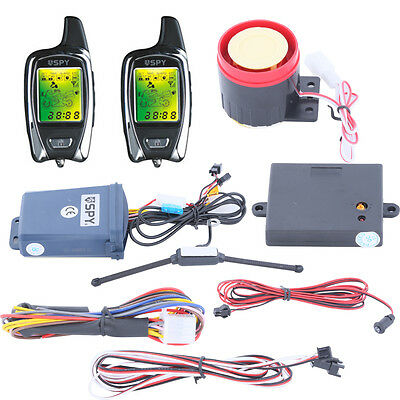 SPY 2 way LCD scooter alarm system remote engine starter With microwave sensor