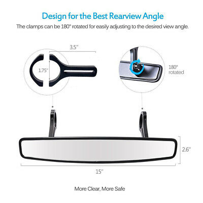"""Wide Angle Rear View UTV Mirror With 1.75"""" Clamps for Polaris Ranger 500 700 800"""