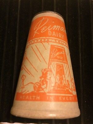 Vintage Riverside Dairy LC Rogers & Sons Half Pint Wax Paper Container Fulton NY