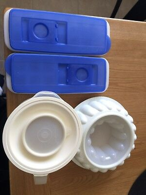 Tupperware Ice Cube Trays Jelly Ring Mix & Pour Jug