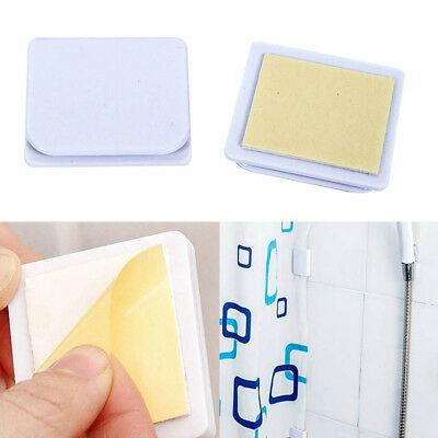 Accessories Bathroom Anti Splash Shower Curtain Fixing Clip Self Adhesive