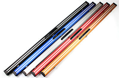 "Weichster New 1Piece Aluminum Snooker Pool Cue Case 60"" with Locks Chalk Space"