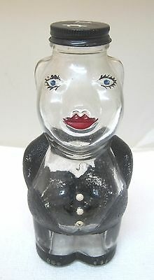 New England Syrup Style Painted Piggy Bank Pig Shaped w Metal 1 Cent Cap SHP