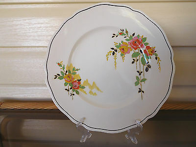 "Royal Doulton ""Rosslyn"" Dinner Plate D5399 Made In England 1930s"