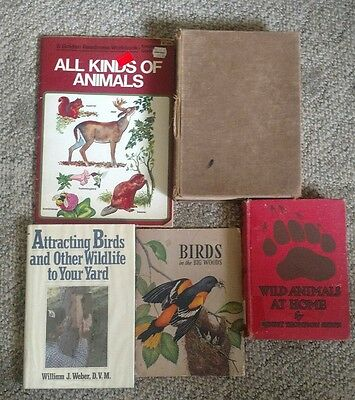lot of 5 books on animals attracting birds & other wildlife