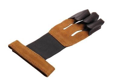 High Quality HandMade Fashion 3 Finger Arrow Shooting Suede Gloves Finger Guard