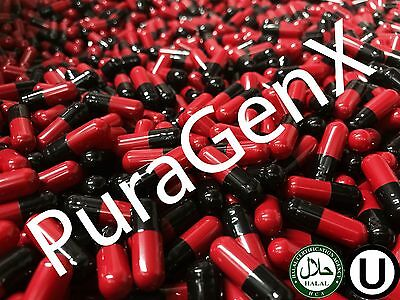 1000 Empty Gelatin Color Capsules - Red/Black - Size 00 - (Kosher) Us Quality