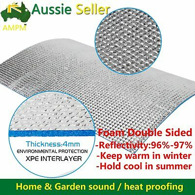 Aluminum Foil Reflective XPE Foam Thermal Insulation Steel House Roof Wall 1Mx3M