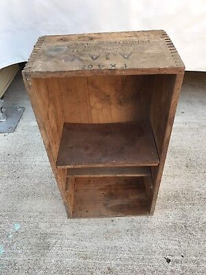 Vintage Timber AJAX Explosives Crate Box Shadow Box Shelves Depression Era