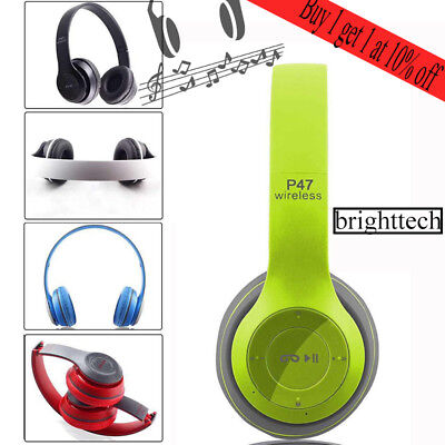 Wireless Bluetooth Foldable Headset Stereo Headphone Earphone for Smartphone MP3