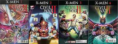Marvel X-Men #1 + 2 + 3 + 4 Full Set Civil War 2 Ii 1St Print Comic Nm 2016