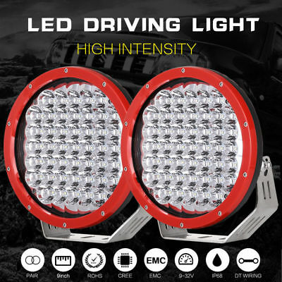 9inch 99999W Cree LED Driving Lights Spot Beam Round Offroad 4x4 Truck HID BLK