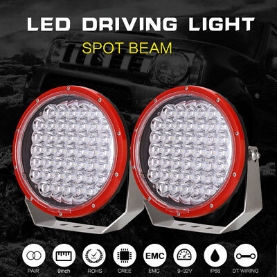 9inch 99999w CREE LED Spot Driving Lights Round Spotlights Offroad Work Lamp 4WD