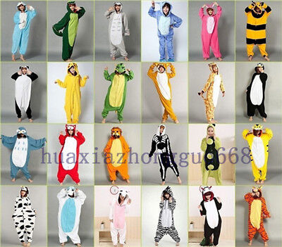 Adult Fleece Unisex Kigurumi Animal Onesie1 Pajamas Cosplay Costume Sleepwear