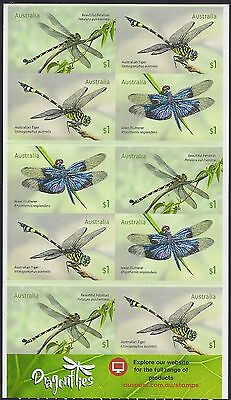 Australia 2017 Dragonflies $10 Booklet of Stamps