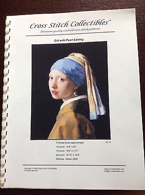 Cross Stitch Collectibles Cross stitch Pattern 'Girl With pearl Earring,