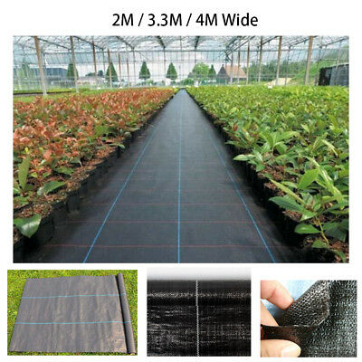 Weed Control Fabric Ground Cover Membrane Landscape Mulch Garden 2M 3.3M 4M Wide