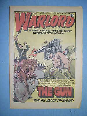 Warlord issue 211 dated October 7 1978